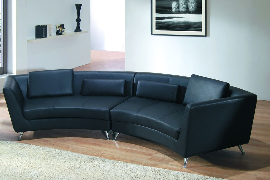 Curved Sectional Black