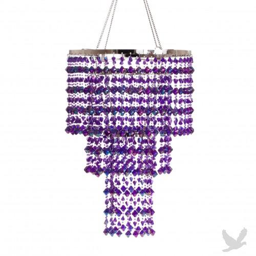 crystal chandelier purple