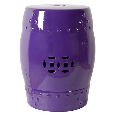 purple garden stool