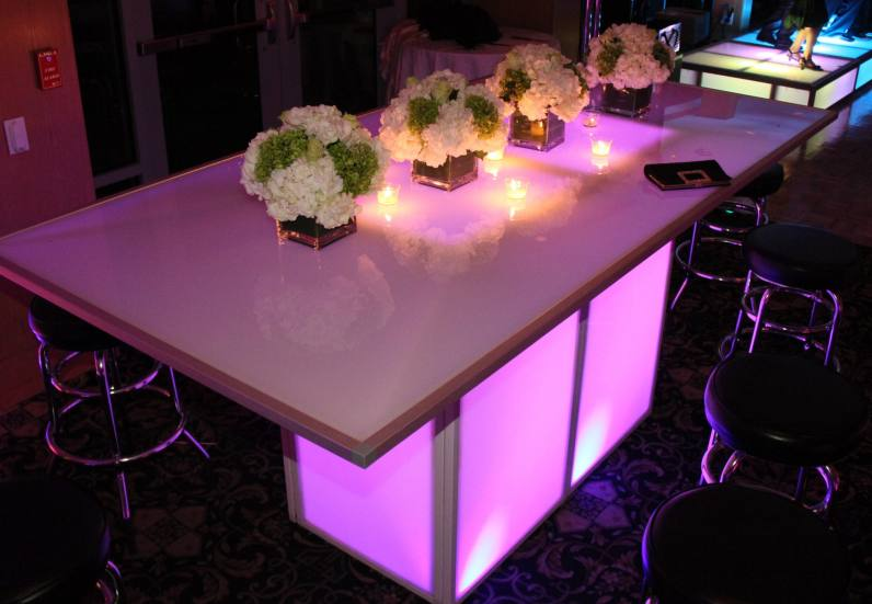 led banquet table - 48 x 96