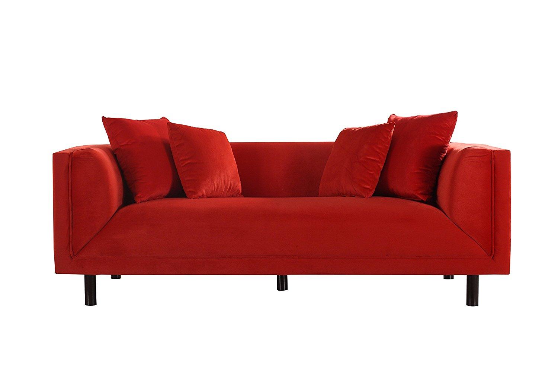 Diva Sofa - Red Velvet