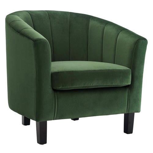 Ariel Velvet Chair Green