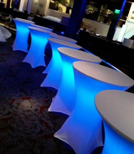 Spandex LED Highboy Table