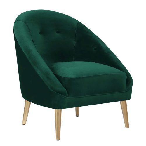 Carla Velvet Chair (Green)